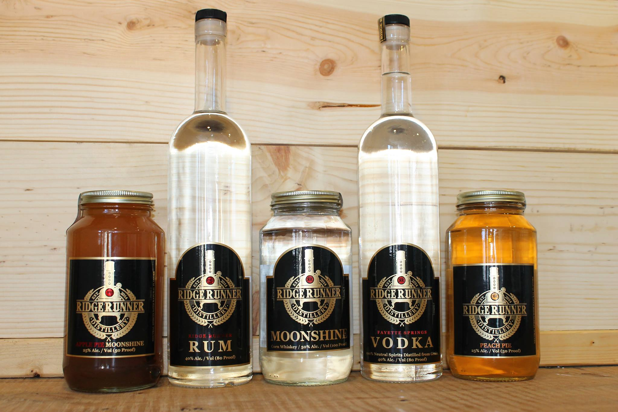 bottles of ridge runner spirits