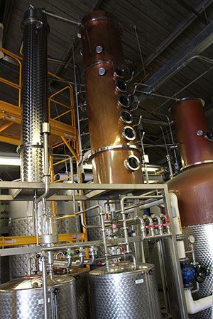 the still at Mountain Laurel Spirits